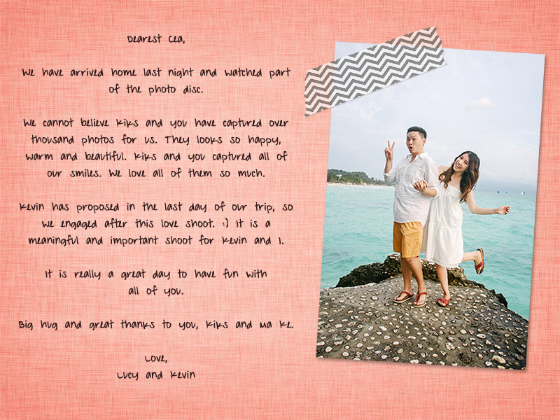 {written love} from Lucy and Kevin