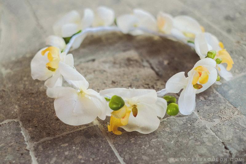 asya premier boracay beach wedding flower crown