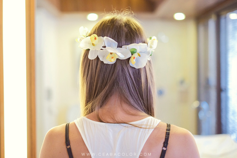 asya premier boracay beach wedding bride flower crown