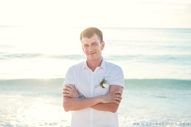 intimate boracay beach wedding russian groom