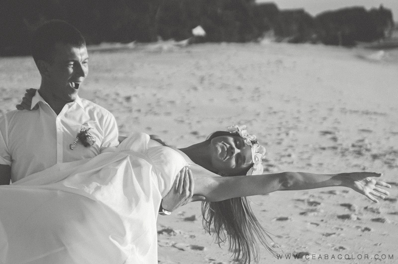 intimate boracay beach wedding russian sunset dance