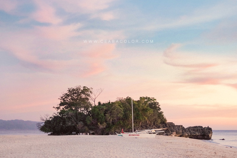 boracay beach sunset dusk clouds sky
