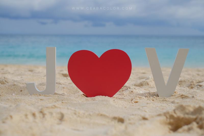 Puka beach Boracay fujifilm x-t1 letter blocks heart