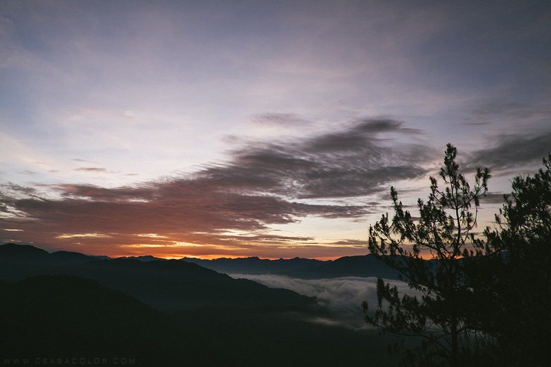 {travel} Sunrise at Kiltepan Peak Sagada Mountain Province